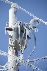 icy electricity lines